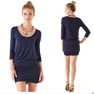 Blouson Jersey Mini Dress